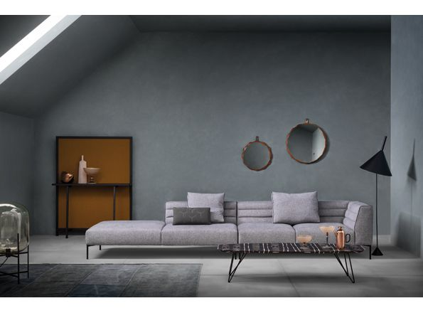 Novelty by Zanotta. Sofa Botero designed by Damian Williamson. Horizontal back panels make it look great without cushions. Available at MOOD, Warsaw. #mood #zanotta #boterosofa #newsofa #beautifulsofa #damianwilliamson