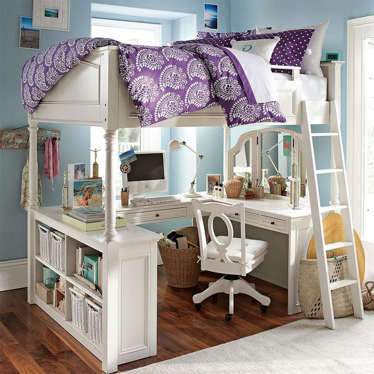 The 25+ Best Bed With Desk Underneath Ideas On Pinterest | Bunk Bed With  Desk, Bunk Bed Desk And White Loft Bed Without Desk