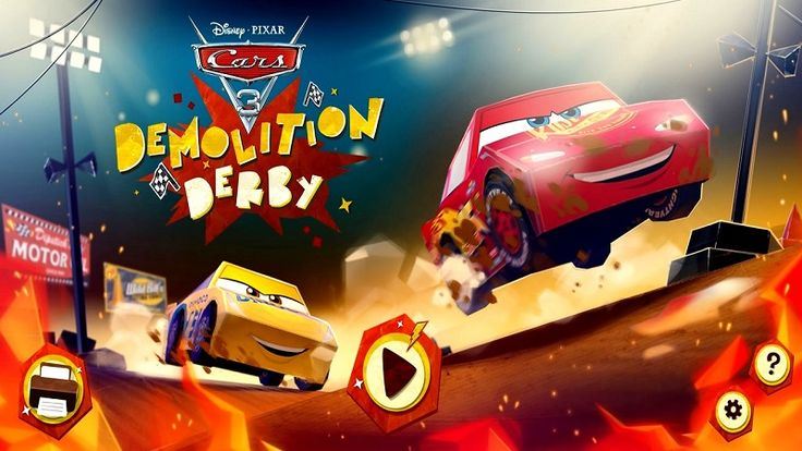 In Cars 3 Demolition Derby, this game introducing a new character who makes her debut in a sequence that is easily one of the most exciting and cool we've seen in the Cars universe. Lightning McQueen and Cruz Ramirez arrive at what they think is a local race at Thunder Hollow Speedway. They soon discover that its demolition derby night and the two of them get stuck on the figure-eight track in the middle of all the action with a bunch of terrifying, banged up cars. Have fun!