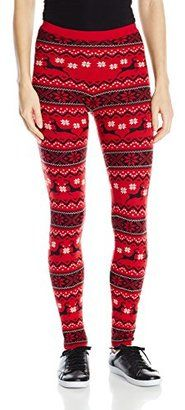 Blizzard Bay Juniors' Christmas Fair Isle Reindeer Sweater Legging - Shop for women's Sweater - Light Grey Combo Sweater