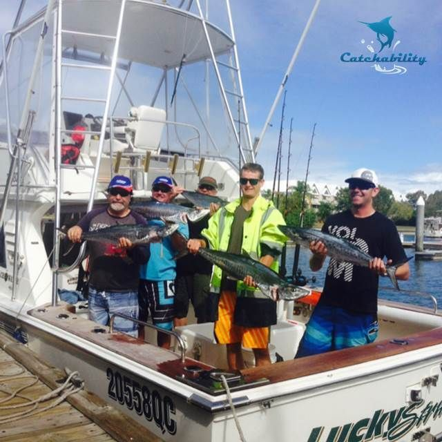 Spanish mackerel caught by Jesse and friends using a lure hard body at Palm Beach Reef