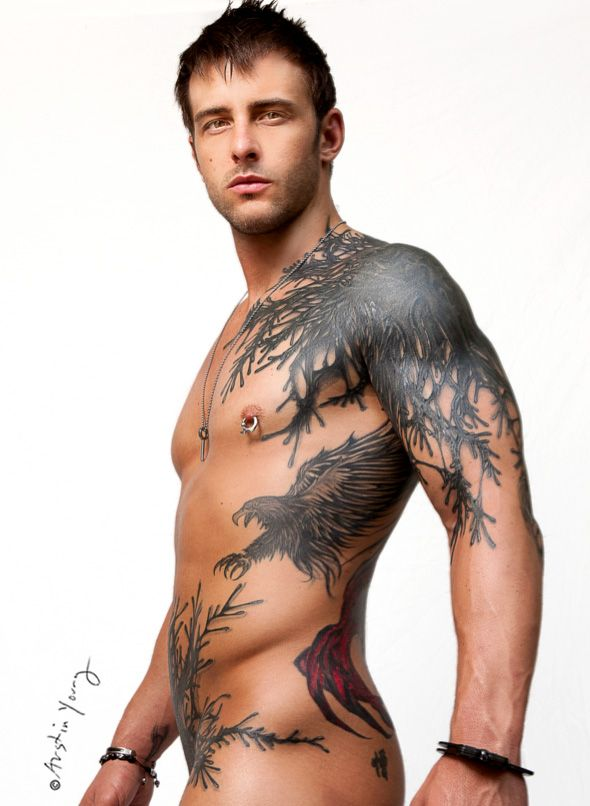Tattooed Guy In Public
