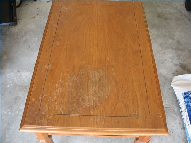 how to refinish a table top veneer 1