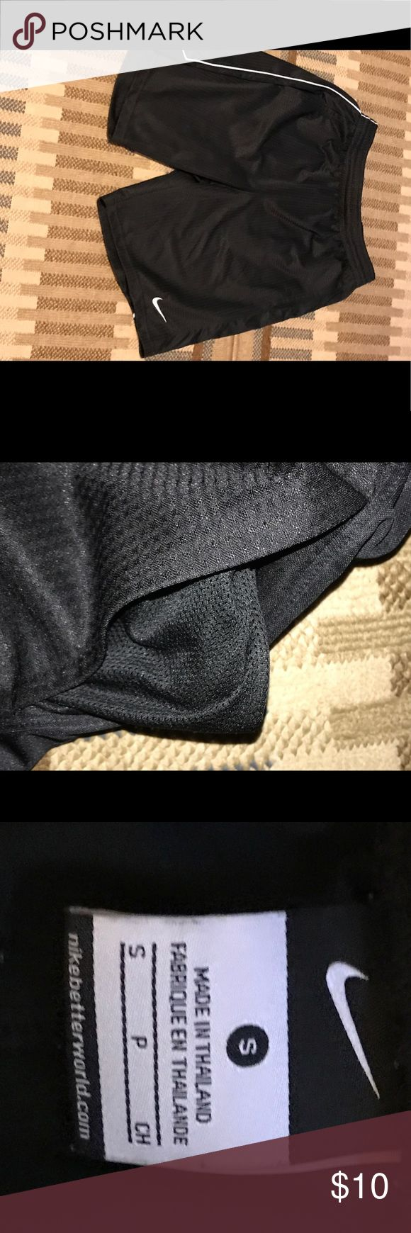 Men's Nike Basketball Shorts Black Nike Basketball Shorts with pockets and white pin strip in sides - Size Small - barely worn Nike Shorts Athletic