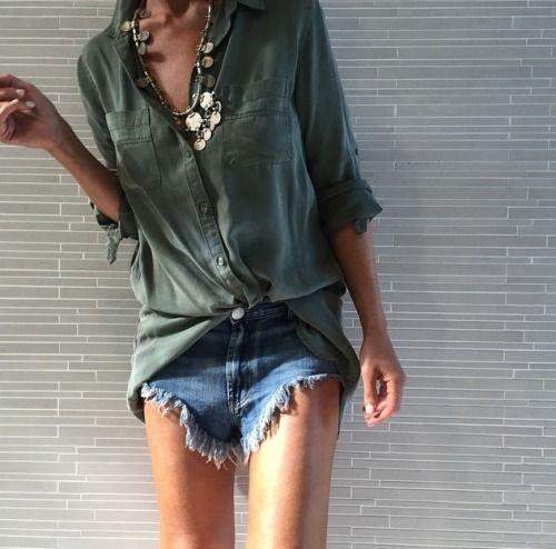 camisa verde