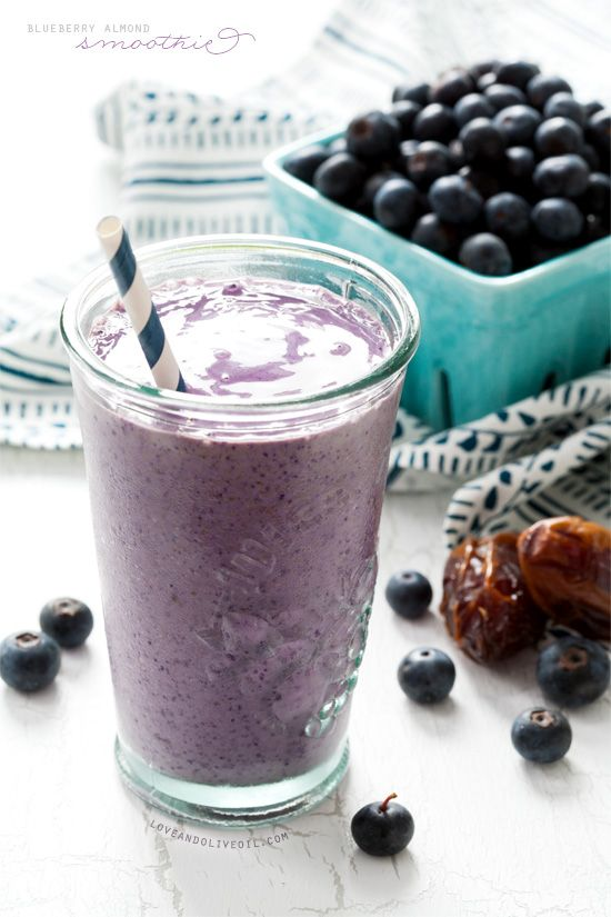 Blueberry Almond Butter Smoothies