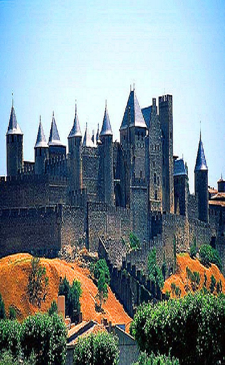 Medieval Carcassonne Castle in France