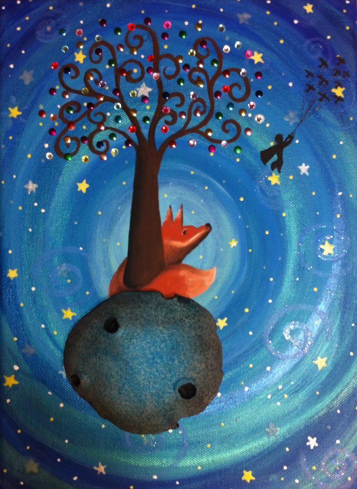 El zorro y el Principito. www.Cuadritosdecolores.bigcartel.com