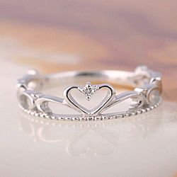 Pinkie ring tiara heart