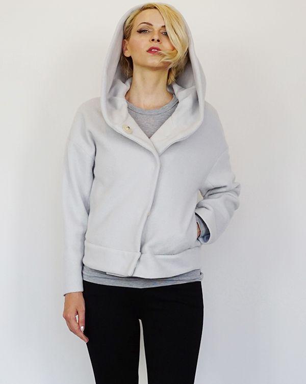 ITEM 2016AW AROMAS Foodie Wool Short Coat / light grey