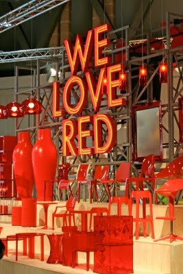 a spot of red in every room (words to live by). via Leslie Banks
