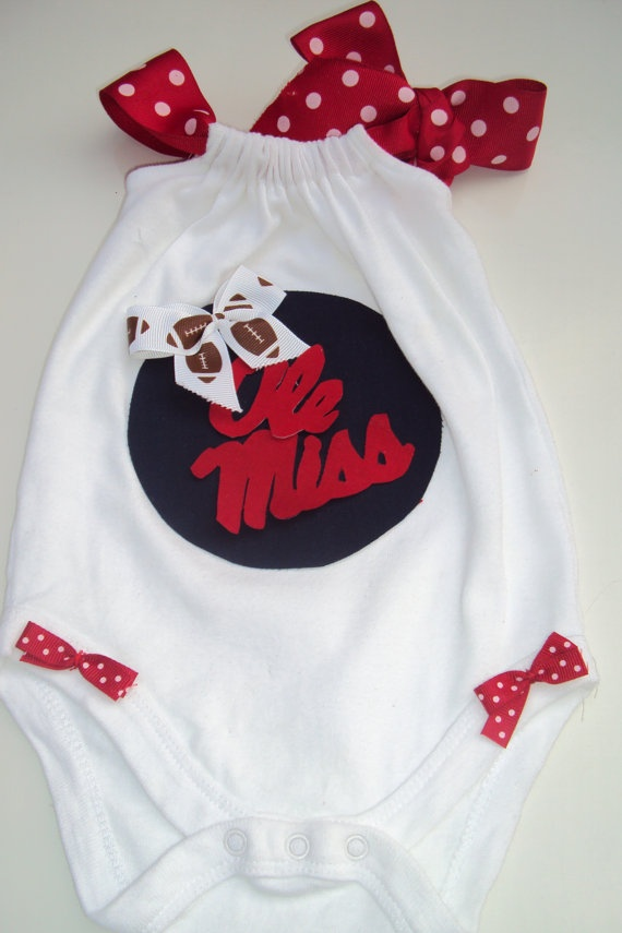 Baby Girls Toddler Girls Ole Miss Romper Onesies by DaintyBoTeek, $20.00