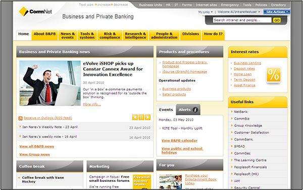 intranet screenshots google search intranets banks
