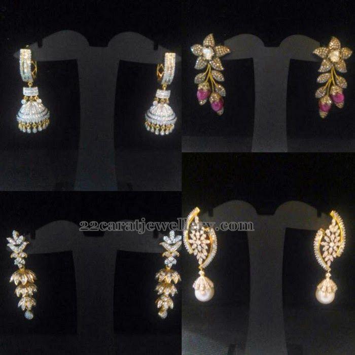 Jewellery Designs: Simple Diamond Earrings