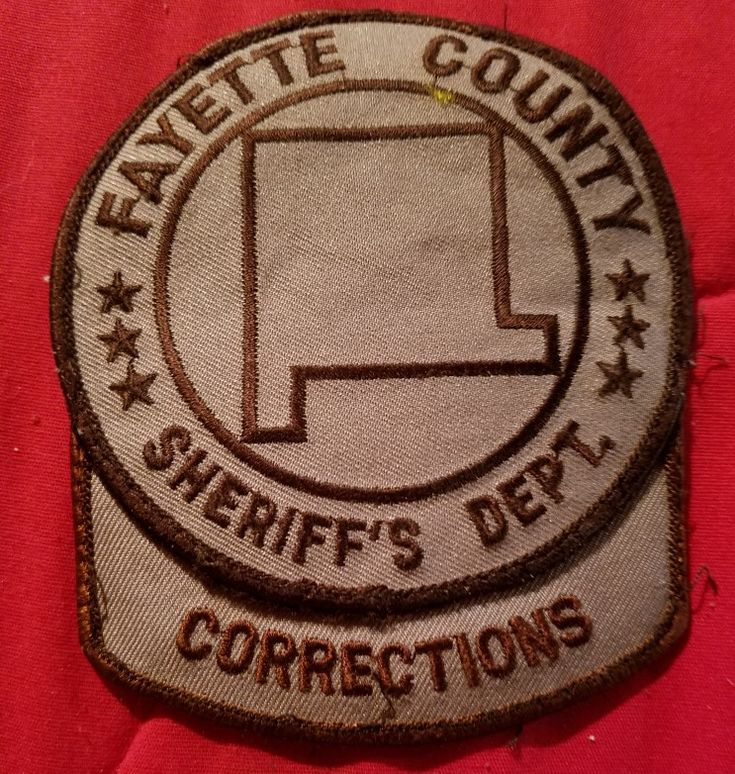 Fayette County Sheriff IL  Corrections Patch