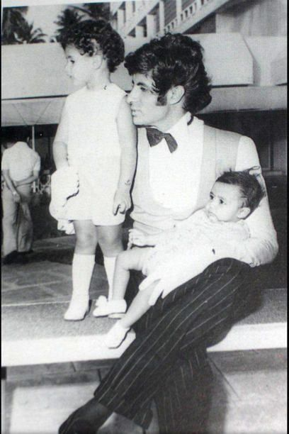 """It's not often that celebrities open up about their private lives, especially when it is the Bachchans we are talking about. Which is why when Abhishek tweeted this picture of his sister and him with their father, Amitabh Bachchan, we were caught by surprise. Says AB Jr, """"That's my sister and me with @Amitabh Garg Bachchan chalo, who can guess on the set of which of dad's films this is taken?"""""""