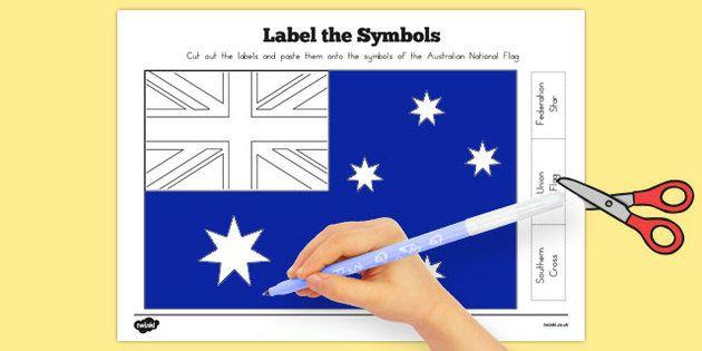 Flags of Australia Australian National Flag Label the Symbols