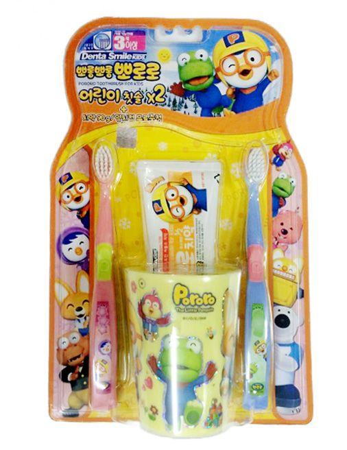 Bộ chăm sóc răng miệng Pororo (bàn chải, cốc, kem đánh răng Pororo) - Hotline mua hàng nhanh: 0919 743 069