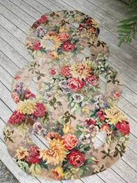 UP-CYCLED Axminster Tiki rug - floral - last one