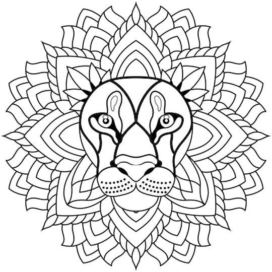 mandala löwe malvorlagen zum ausdrucken - x - malvorlagen