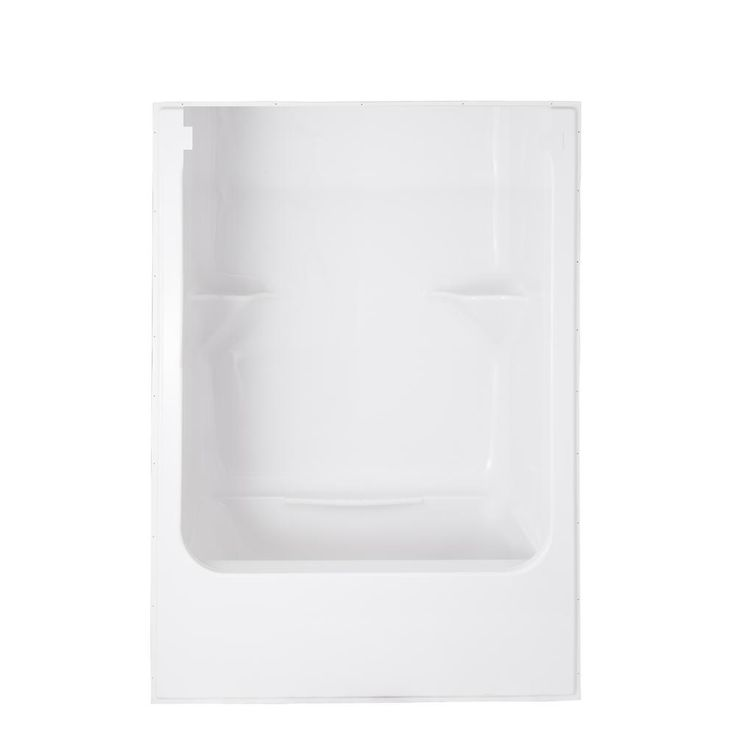 AmeriBath 60 in. x 28 in. x 76 in. 1-Piece Acrylic Bathtub and Shower Kit in White with Open Top and Left Hand Side Drain