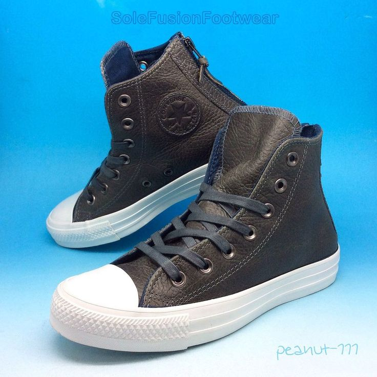 converse 6 5 womens. converse all star womens leather trainers sz 4 grey zip hi top sneaker us 6 36.5 5