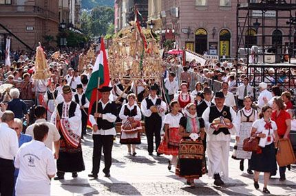 Foundation of the Hungarian State 1000 years agao St Stephans Day.Harvest Procession and Blessing of the Bread - 20th August Festivities Budapest