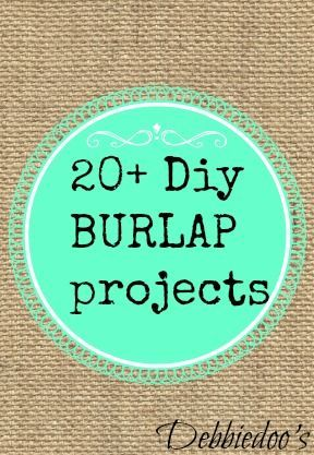 20 diy burlap projects by debbidoo 39 s things to make for Crafts to make with burlap