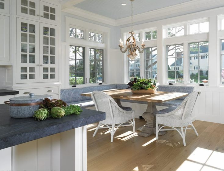 Kitchen banquette built ins pinterest - Built in kitchen banquette designs ...