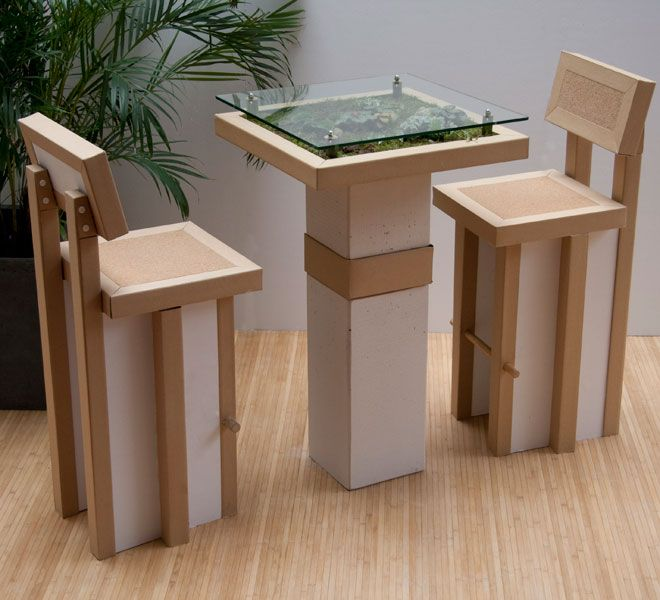 785 best images about cardboard construction on pinterest for Meuble bureau ecologique