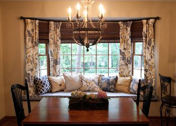 Bay Window Treatments Dining Room 9 Best Images About 8 Bay Window Curtains On Pinterest