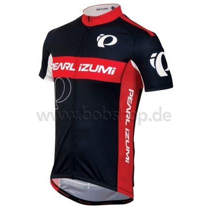 Le n°1 européen du vêtement cycliste. | Maillot manches courtes PEARL IZUMI Elite LTD Big IP noir-rouge | Équipement Cycliste Pro