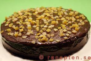 Apelsinchokladkaka - Recept på god kaka med apelsin och choklad