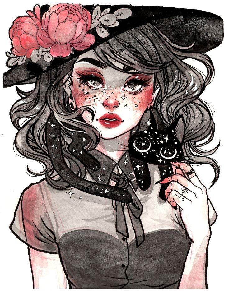 jacquelindeleon | Witch art, Art, Art drawings
