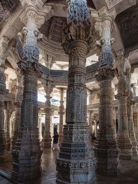 Ranakpur jain temple in Rajasthan, India