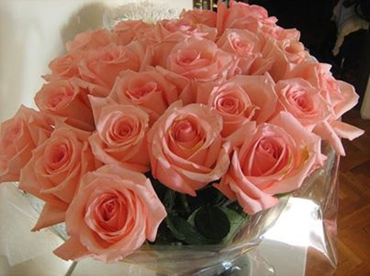 A Lovely Bunch Of Peach Colored Roses Roses Peach