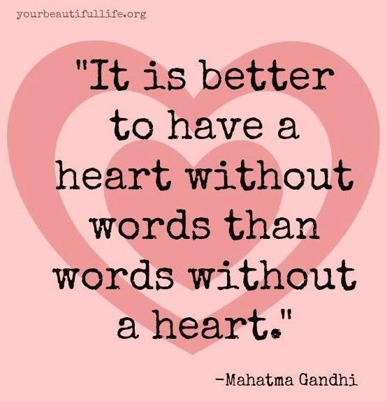 Heart quote via www.YourBeautifulLife.org