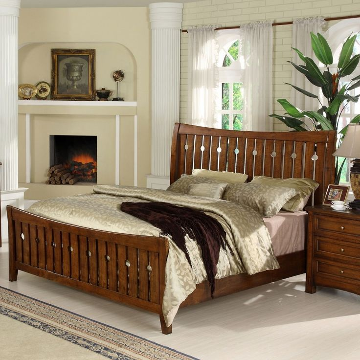 Craftsman Home King Panel Bed By Riverside Furniture