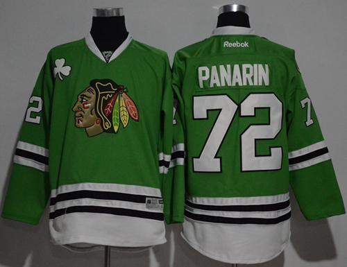 blackhawks 72 artemi panarin green stitched nhl jersey