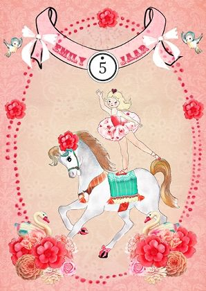 8 uitnodigingen kinderfeestje Ballerina Circus | Ook feestpakketten op deze site | Imaraland