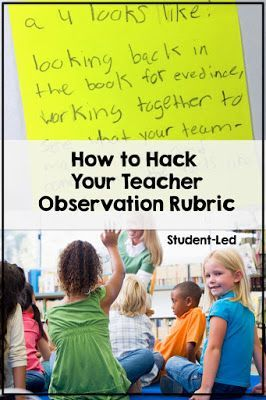 Teachers, are you looking for tips and ideas to hack your teacher observation rubric? On the list of look fors is the student-led rubric. Gain extra points for your lesson in most elementary, middle school, or high school classrooms. This basic template of free information will make going down your checklist of items super simple! Your feedback is all you need in second grade, third grade, fourth grade, and beyond! #teacherobservationhack #studentledrubric #elementary #middleschool…