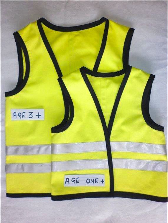 Childs Yellow Construction Workers Vest By