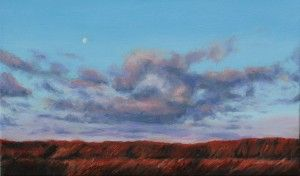 Moon Over Mornington oil on canvas 2015 www.elenaduff.com oil painting art irish art landscape contemporary art realist