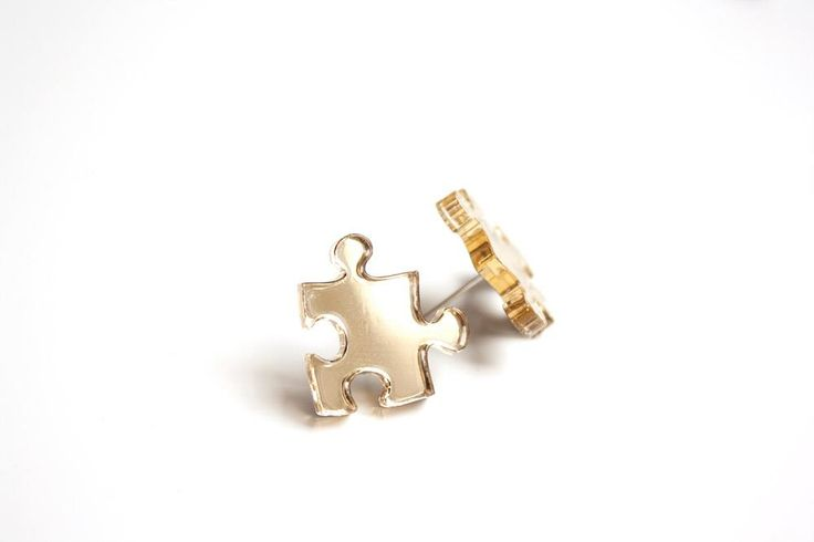 Puzzle stud earring