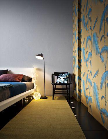 Colori camera da letto: tappezzeria creativa