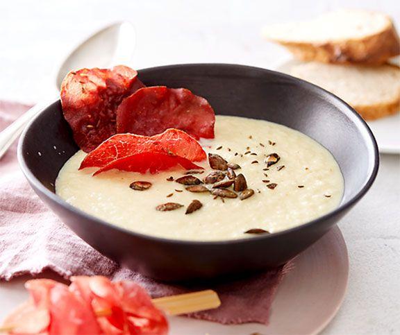 Sauerkrautsuppe mit Mostbröckli