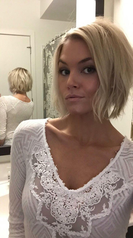 Krissafowles Short Blonde Choppy Inverted Bob Hair