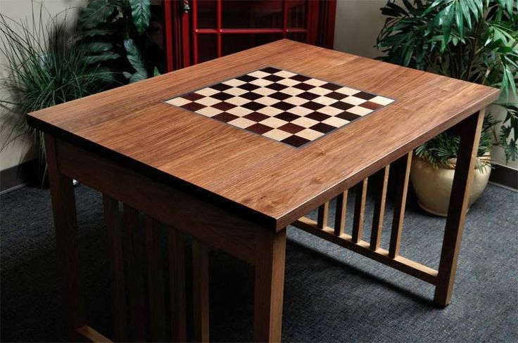 """Signature Traditional Chess Table - 2.25"""" Squares #TheHouseofStaunton"""