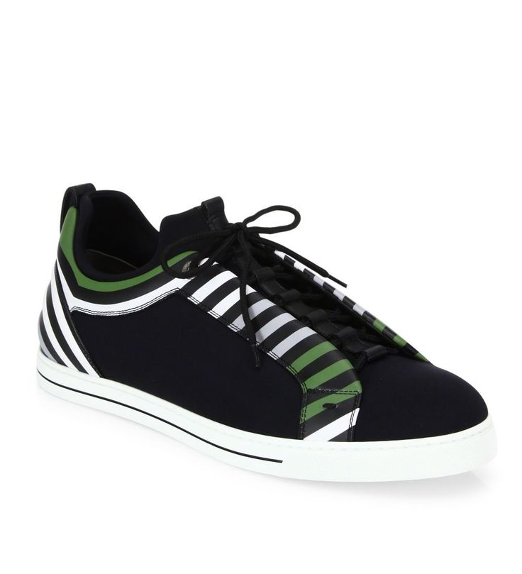 Fendi Neoprene Lace-Up Sneakers Nero                  $149.00