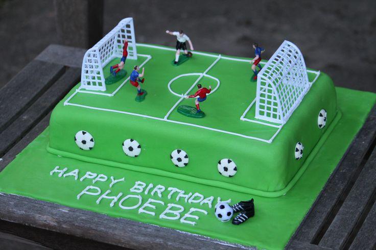 soccer pitch birthday cake | Flickr - Photo Sharing!